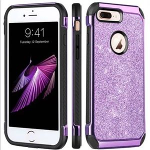 Brand new IPhone 8 plus phone case, purple!